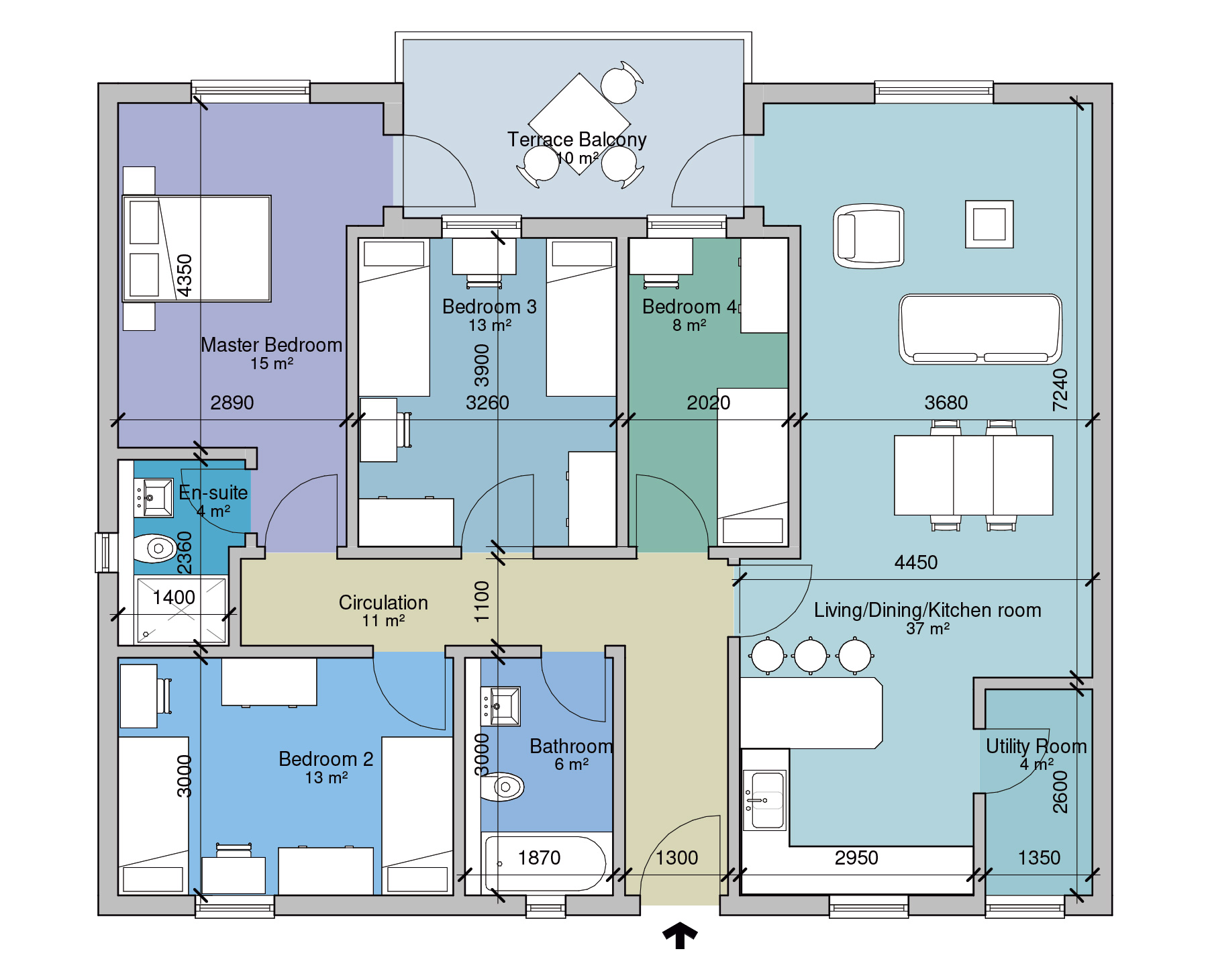 APT A Floor Plan