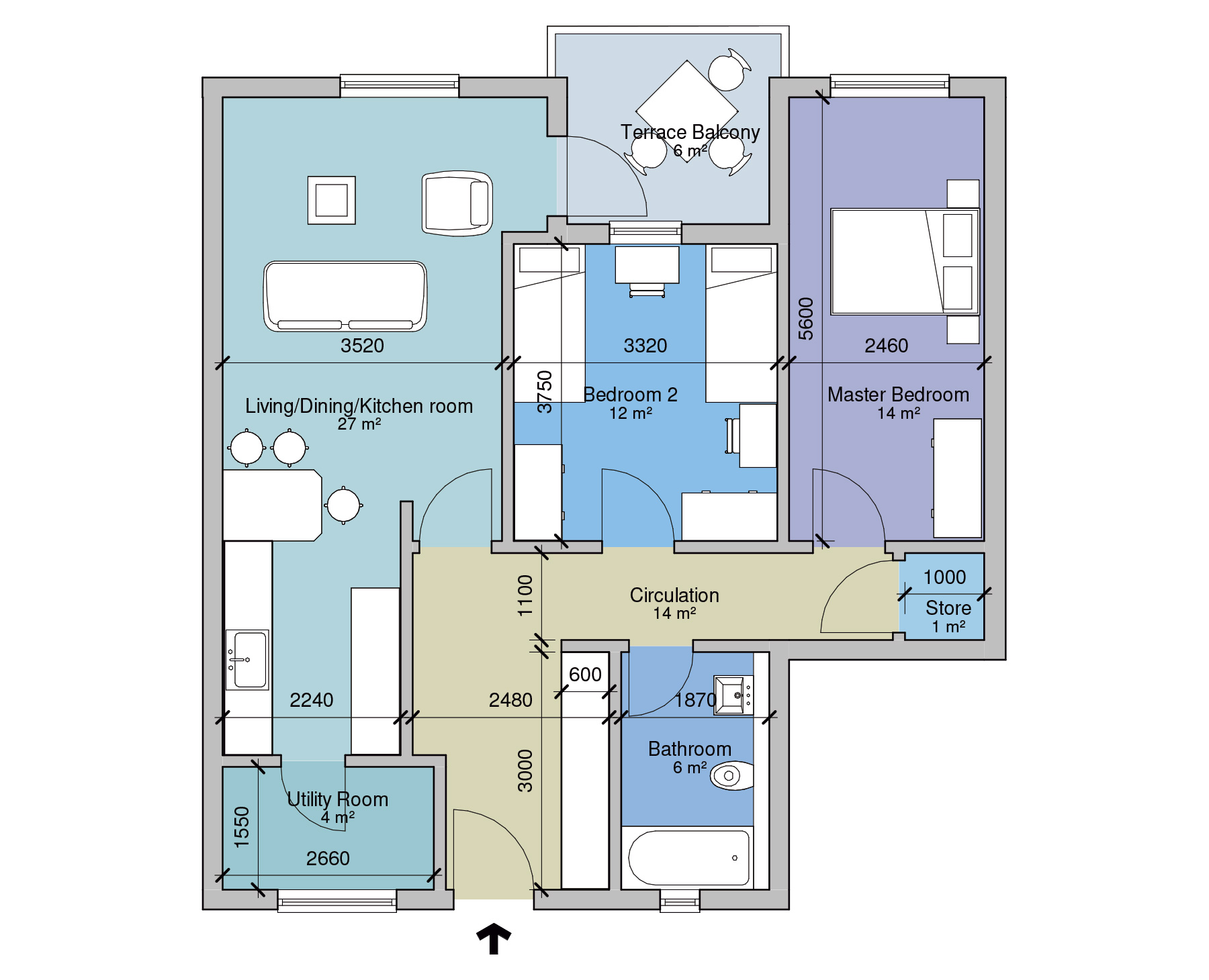 APT B Floor Plan